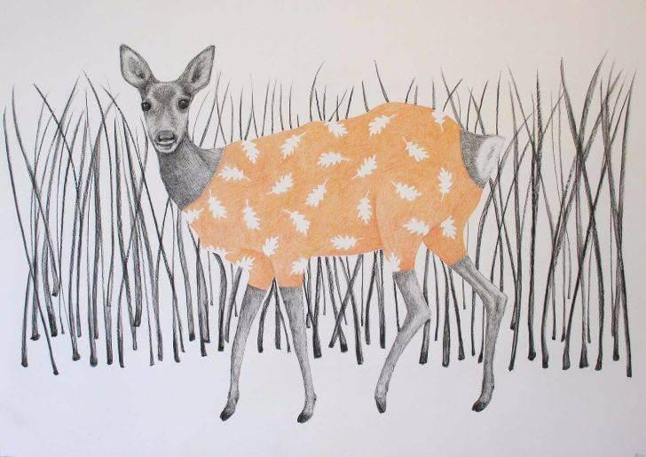 portfolio item Wilma Stegeman met de titel: Hert